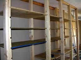 off white diy garage shelves plans homemade hampedia