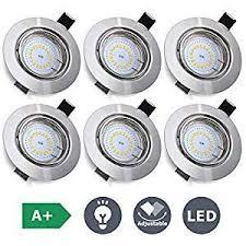kingso 6pack recessed spotlight led 230v gu10 warm white