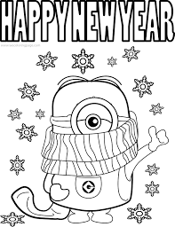 Happy New Year Coloring Pages Years Free Printable Download