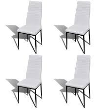 esszimmergarnitur esszimmerstuhl weiß 4 stück glastisch 1 stück