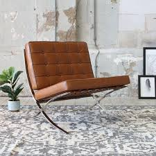 barcelona chair cognac mies der rohe furnpact