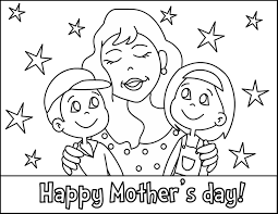 Mothers Day Coloring Pages Mom And Her Kids