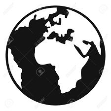 Earth Globe Icon Simple Illustration Earth Globe Vector Icon