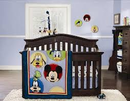 mickey mouse and pluto 4 piece crib bedding set mickey mouse