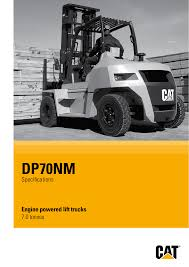 100 Cat Lift Trucks DP70NM Zahid Cat Manualzzcom