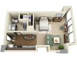 Efficiency Floor Plans Colors Studio Apartment Floor Plans