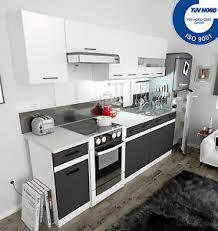 küche 240cm 4 farben wählbar einbauküche küchenzeile
