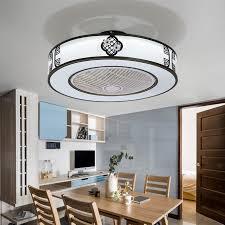 rund deckenventilator mit led licht für wohnzimmer
