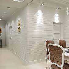 weiß 3d modernes design pvc ziegel tapete rolle vinyl wand abdeckt wand papier für wohnzimmer esszimmer tv shop hintergrund