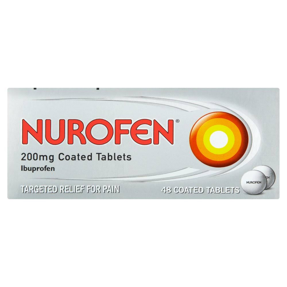 Nurofen Ibuprofen - 200mg, 48 Coated Tablets