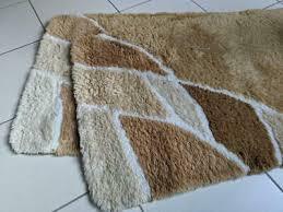 hagemann 2x badezimmer garnitur 60 x 90 beige