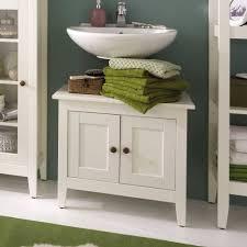 waschbeckenunterschrank in weiß lasiert lousias