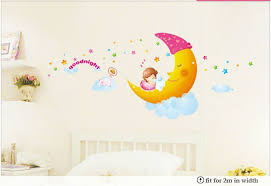 Wall Painting For Kids Room Sweet Dream Removable Cartoon Sticker Decor Lovely Decal Retail And Wholesale