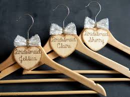 Rustic Personalized Wooden Heart Burned Hangers