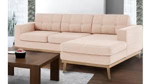 type de canapé canapé convertible style scandinave canap fixe tissu pieds bois