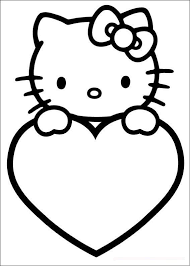 Valentines Day Coloring Pages Hello Kitty