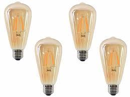 luxon vintage led filament bulb st64 edison style 4w e26 warm