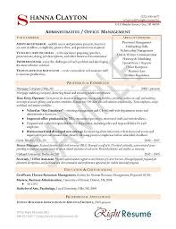Administrative Manager Resume Example Rh Resource Com Hr And Admin Sample India