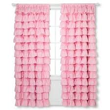 Light Pink Ruffle Blackout Curtains by Pink Ruffle Curtains Target