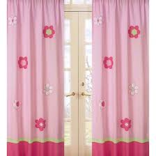 Target Eclipse Pink Curtains by Sweet Jojo Designs Pink And Green Flower Window Panels Target