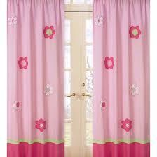 Target Pink Window Curtains by Sweet Jojo Designs Pink And Green Flower Window Panels Target