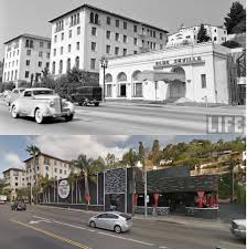 100 Sunset Plaza Apartments Anaheim Then Now 8433 Blvd West Hollywood CA 1940 And