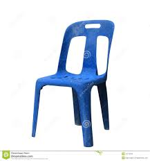 Blue Plastic Chair Stock Image