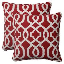Red Accent Pillows perfect for the window seat