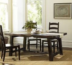 Pottery Barn Aaron Upholstered Chair by Benchwright Extending Rectangular Dining Table 108 X 42