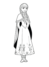 Frozen Anna Coloring Pages To Print Free Printable And Elsa