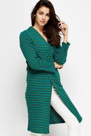 multi stripe open long line cardigan 11 colours just 5