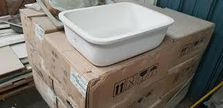 100 Hi Macs Sinks Dupont Corian 960 White Undermount Kitchen Single Sink Solid Surface Basin