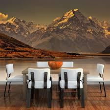 Misty Mountain Wall Mural New Zealand Landscape Wallpaper Bedroom Photo Decor