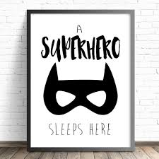 Superhero Bedroom Decor Nz by Superhero Nursery Print Batman Nursery Boys Bedroom Wall