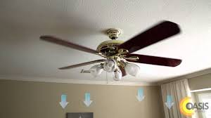 Ceiling Fan Counterclockwise In Winter by Three Things You Need To Know About Ceiling Fans Oasis Energy