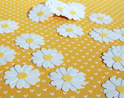 Daisies Table Confetti Spring Flower Scatter 50 Pieces Garden Party Bridal Shower Birthday Wedding