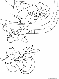 Printable Happy Easter Jesus Arrives On Palm Sunday Coloring