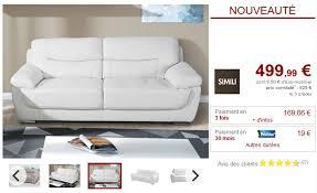avis vente unique canape canapé 3 places convertible et modulable siniba pas cher canapé