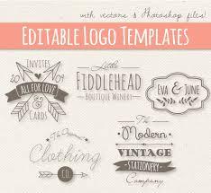 Modern Vintage Style Logo Templates Set 4 Editable Logo