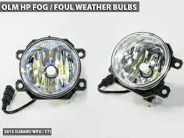 olm hp led 3000k fog foul weather light bulbs 2015 wrx 2015