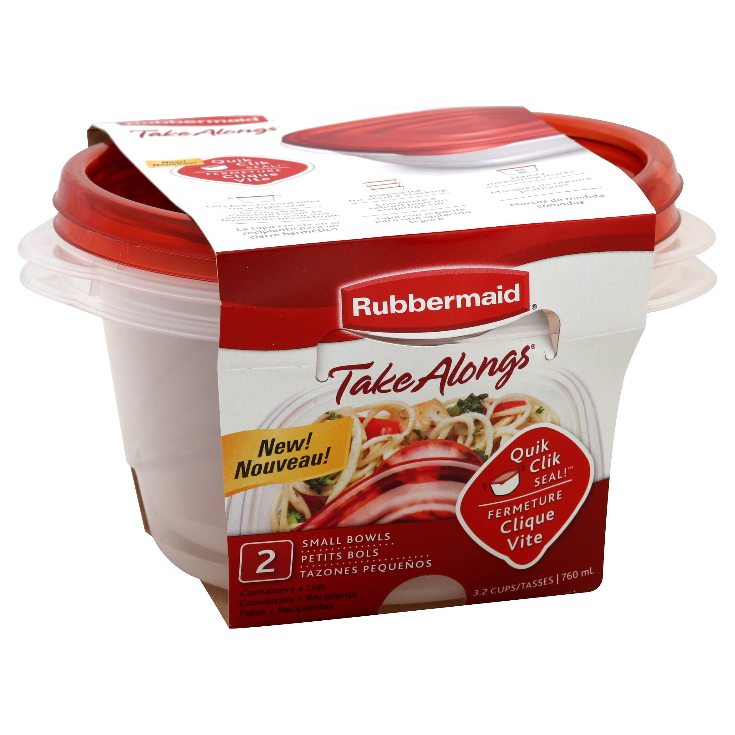 Rubbermaid Take Alongs Round Food Container - 2ct, Pack of 3