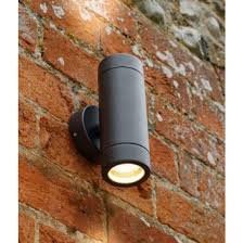 black updown outdoor wall light with regard to brilliant