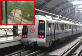 Delhi Metro train runs with doors open Packed Delhi Metro train