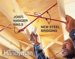Sistering Floor Joists To Increase Span by Fixing Bouncy Floors Family Handyman