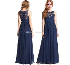navy blue chiffon junior girls bridesmaid dresses with lace jewel