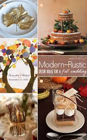 Chic Fall Decorations And Wedding Elements With A Modern Style