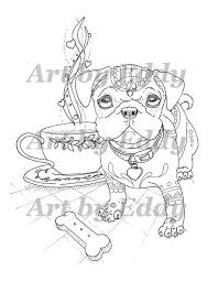 Pin Drawn Pug For Kid Pdf 11