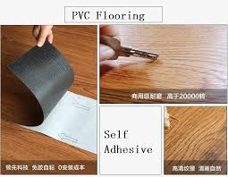 Self Adhesive Pvc Carpet 3D Wood Grain Plastic Floor Tiles Cork Laminate Flooring Waterproof Vinyl Tile