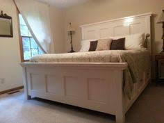 White King Headboard And Footboard by Beautiful Panel Farmhouse Bed Diy Handmade Plans White Paint King