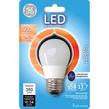 ge led 4 5w daylight ceiling fan light bulb a15 white walmart